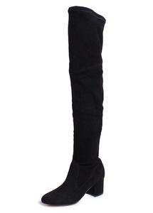 Schutz Tamarah Over The Knee Heeled Boots in Black