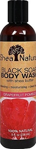 Shea Natural Black Soap Body Wash, Grapefruit 8 Fz by Shea Natural