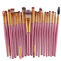 Tinabless 20pcs Makeup Face Brushes Set - Professional Beauty Cosmetics Tools - Makeup Brush Set - Make Up Brushes Kit - Make Up Eye Shadow Brush Set - Eyeshadow Powder Eyelash Lip Concealer Contour Foundation Eyeliner Sponge Brushes(Pink) by Tinabless
