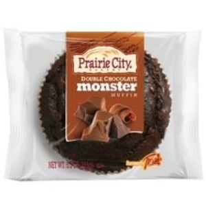 Prairie City Bakery Double Chocolate Chip Monster Muffin, 6 Ounce -- 48 per case.