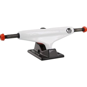 Industrial IV Logo White / Black Skateboard Trucks - 5.25