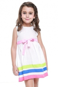 LI'L BLACK DRESS® High Quality Girls One Piece Dress With Colored Stripes