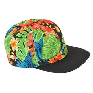 Emmas Style Printed Flower Snapback Cap Baseball Cap Hip-Hop Hat Headwear