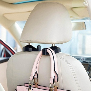 Car Vehicle Back Seat Hidden Hook, YUNSHANGAUTO Universal Car Vehicle Back Seat Headrest Hanger Holder Hook for Bag Purse Cloth Grocery (2 Pack)