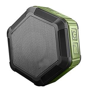 Mini Portable Outdoor Bluetooth Speaker Waterproof Dustproof Shock Resistant Wireless Bluetooth Speaker for Cellphone Tablet Army Green