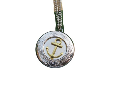 Anchor Locket Necklace Sailboat Locket Vintage Locket Necklace Nautical Locket Secret Locket
