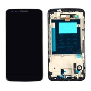 New White Touch Digitizer+Lcd Display Assembly With Frame For LG G2 D800 D801