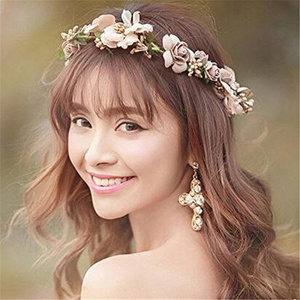 Boho Style Flower Floral Women Hairband Headband Crown Party Bride Wedding Beach Cloth