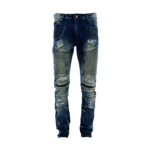 Focus Denim - Men's Motto Rips Zippers Jean - Vintage