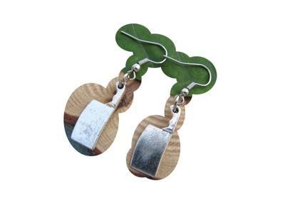 Chef Earrings - Knife Earrings - Knife Jewelry - Dangle Earrings - Cooking Jewelry - Tool Earrings