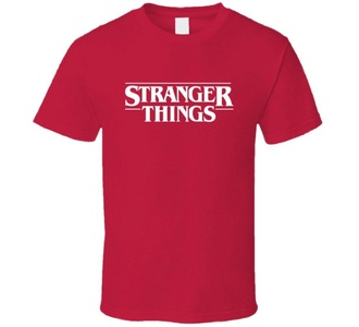 Stranger Things Netflix TV Series White Logo T Shirt XL Red