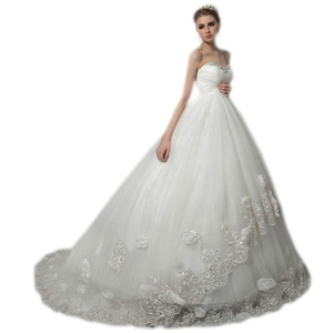 Aurora Bridal 2017 Women Sweetheart Empire Beach Wedding Dress Bead Pregnant Bridal Gown White 4