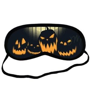 Custom Happy Halloween Sleeping Mask, Comfortable Soft Cotton Sleeping Aids Eye Mask Cover Travel & Work Rest