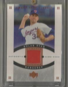 2005 Sweet Spot Classic Baseball Nolan Ryan Game Worn Jersey Card # CM-NR1