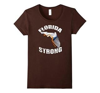Women's Florida Strong T Shirt Support Medium Brown