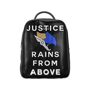 Rains From Above Unisex PU Leather Computer Laptop Backpack, Travel Bag Hiking Knapsack,School College Student Backpacks Shoulder Bags for Women/Girls,Men/Boys