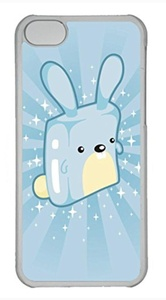 iPhone 5c case, Cute Blue Rabbit iPhone 5c Cover, iPhone 5c Cases, Hard Clear iPhone 5c Covers