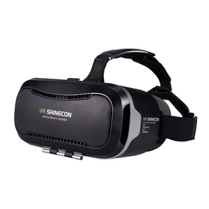 VR SHINECON VR Headset, VR Goggles 3D VR Glasses Virtual Reality Headset VR Box for 3D Video Movies Games for Apple iPhone, Samsung Galaxy Note HTC Google Nexus LG More Smartphones