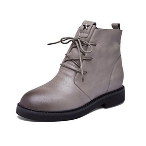 Autumn and winter leather womens boots/High casual boots-B Foot length=22.8CM(9Inch)