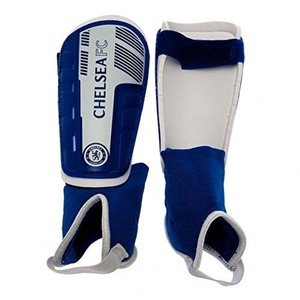 Chelsea FC Official Football Gift Shin & Ankle Pads (Kids) - A Great Christmas / Birthday Gift Idea For Boys by Official Chelsea FC Gifts