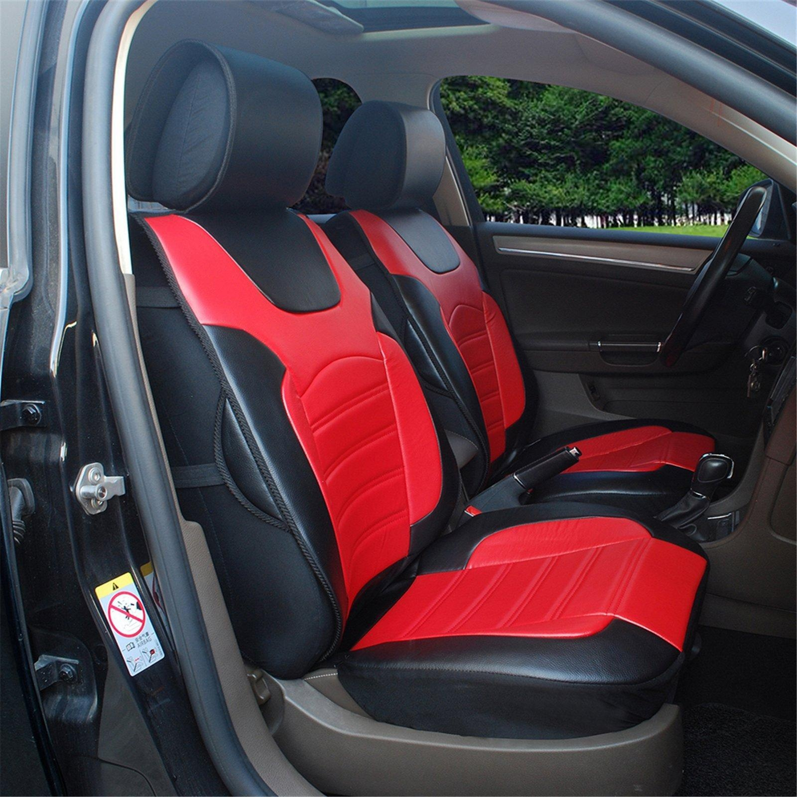 Online store 180208s black red 2 front car seat cover cushions