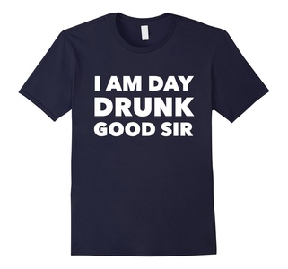 Men's I am Day Drunk Good Sir - Funny party drinking t shirt  Small Navy