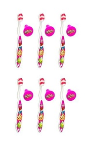 Shopkins Brush Buddies Toothbrush Travel Kit, Soft (Set of 6) by Brush Buddies