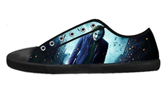 Custom Men's Low-Top Lace-up Rubber Sole Shoes Cool Joker Why So Serious Design-8M(US)