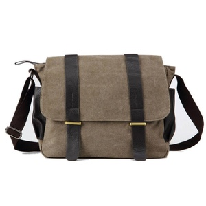 Anself Men's Vintage Canvas Messenger Bag Multi-Pockets Shoulder Crossbody Satchel Bag