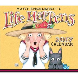 2017 MARY ENGELBREIT'S LIFE HAPPENS Page-A-day Box / Desk / Tear-Off Calendar