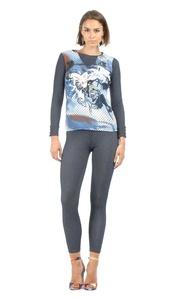 S'quise Jeans Women's Leggings JEAN 7 Blue
