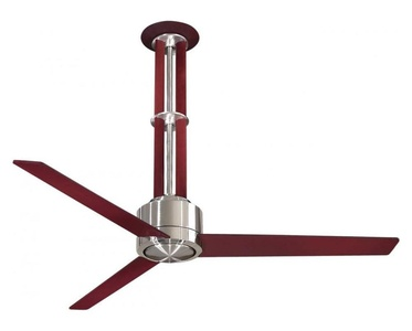 Brushed Nickel / Maple 3 Blade 56In. Ceiling Fan - Light, Wall Control And Blades Included