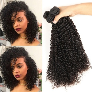 shuangya hair 8A Unprocessed Virgin Mongolian Kinky Curly Human Hair Extensions for Black Women 3 Bundles Hair Curly Weave(12inch 12inch 14inch)