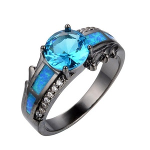T&T ring Opal Blue Sapphire Stone Punk Style Rings Wedding Ring For Women Engagement Wedding Bridal Rings (9)