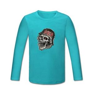 Slayer Black Eagle Sukll for boys/girls Printed Long Sleeve Cotton T-shirt