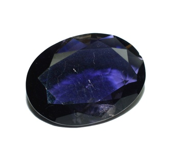 Iolite facet cut & clean gemstone oval shape 4.64 carat