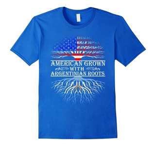 Men's American Grown With Argentinian Roots Proud T-Shirt For Wome 2XL Royal Blue