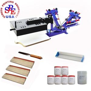 3 Color 1 Station Screen Printing Kit Desktop Screen Printing Press with Dryer Screen Printing Equipment Material Screen Printer