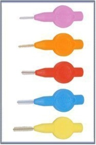 Interdental Brushes Mix Trial Pack - 1 packet of 5 mixed sizes (5 Brushes) by Interdental Brushes