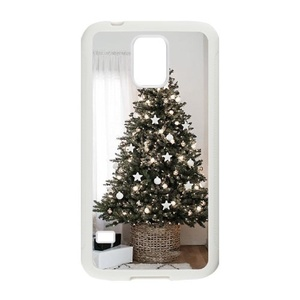 Samsung Galaxy s5 Case, LEDGOD Fashionable Gift DIY Christmas Tree White Cover Phone Case for Samsung Galaxy s5 Shell Phone.