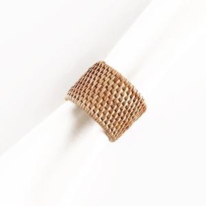 Pandan Basketweave Napkin Rings