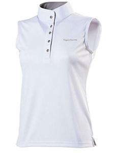 Ekkia Ladies Equi Theme Competition Show Polo Shirt Sleeveless Tailored Cut White XL by Equi-Theme