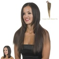 Clip-In Weft Hairpiece   18 Long Straight Hair Extensions   Frappe Graduated Ash Blonde and Brown Mix by Hair Extensions By MissTresses