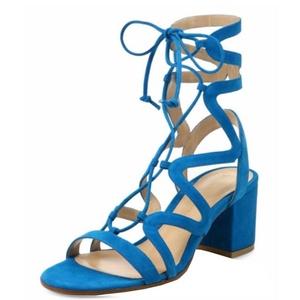 Comfity Women's Lace Up Cut Out Block Heels Criss Cross Vamp Slingback Dress Sandals