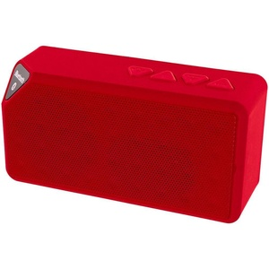 Mini Portable Bluetooth Wireless Speaker Boombox Stereo for Phones (Red)