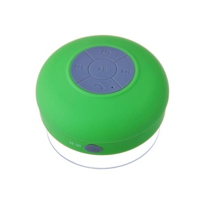 HTC Desire 626s Green Waterproof Portable Bluetooth Speaker with Suction Cup for Music Playing and Speaker Phone for Shower, Pool, Boating and Outdoors