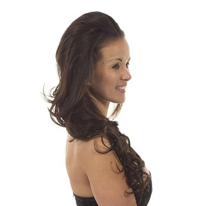 Hair By MissTresses Bodywave Half Wig Extensions Hairpiece, Loren Dark Brown by Hair By MissTresses