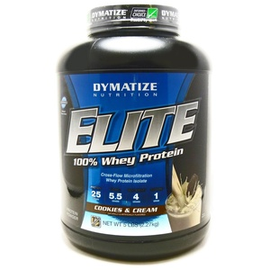 Bundle - 2 Items : 1 Elite Whey Cookies and Cream By Dymatize - 5 Pounds and 1 VDC Shaker Cup