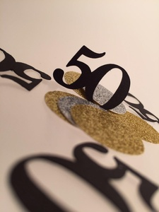 50 Birthday Confetti, 50th Party, Birthday, Fifty Birthday, Birthday Confetti, 50 Confetti, 50th Confetti, Gold and Black Party, Gold Silver