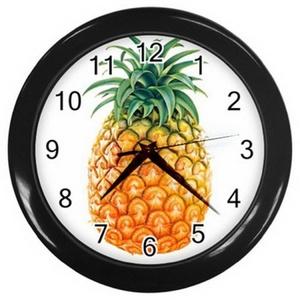 Wall clock LZWC 037 New Wall Clock Tasty Pineapple / Fresh Fruits Kitchen Wall Clock!